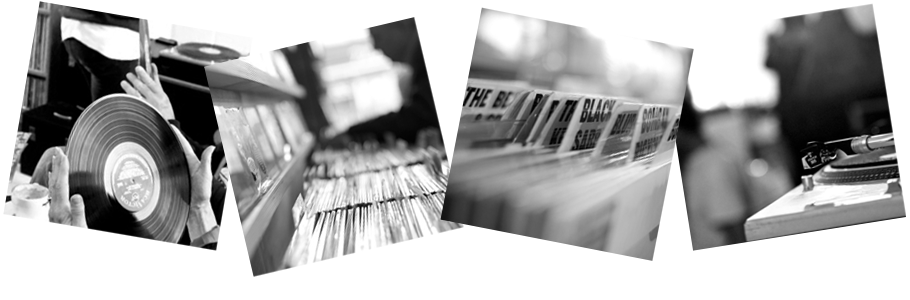 "New Range! ""Off The Record"" black-and-white photography of vinyl records"